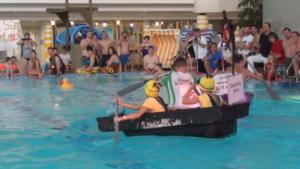 Badewannenrennen in Freizeitbad Düsselstrand in Düsseldorf