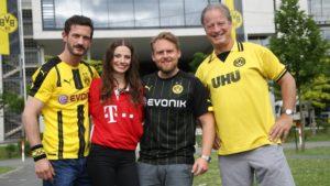 Axel Stein spielt den BVB Fan Philipp in Volltreffer
