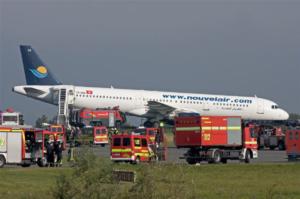 Flugunfallübung auf dem Airbus-Gelände