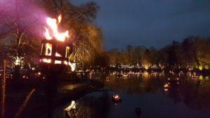 Mittelalterlicher Lichter Weihnachtsmarkt