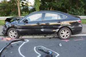Stauend-Unfall auf der Bundesstraße 51 in Münster