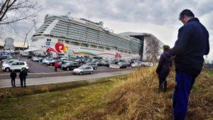 Ausdocken Norwegian Joy im Zeitraffer – Meyer Werft Papenburg