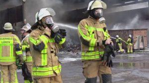 Feuerwehr Lünen – Lüner Feuerwehr löscht Brand bei der GWA in Lünen