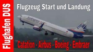 Düsseldorf Flughafen DUS – Flugzeug Start und Landung
