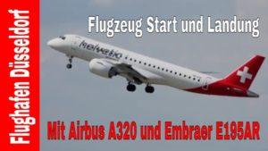 Flugzeuge am Flughafen Düsseldorf – Flugzeug Start und Landung