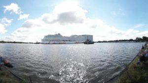Genting Dream 360 Grad Video – Emsüberführung von der Meyer Werft Papenburg