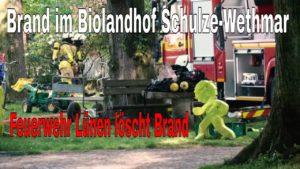 FEUERWEHR Lünen löscht Brand im Biolandhof Schulze-Wethmar