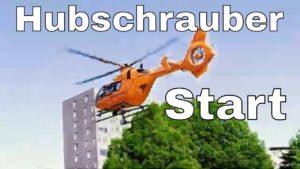 Hubschrauber Start in Münster