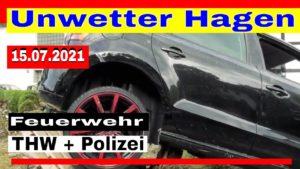 Unwetter Hagen – Feuerwehr Hagen HW Hagen Polizei Hagen unf BW